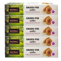 Nutraj Dried Fig (Anjeer) 1 Kg (200g X 5)