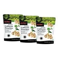 Nutraj California Roasted and Salted Pistachios, 250gm (Pack of 3)