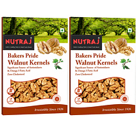 Nutraj Bakers Pride Broken Walnut Kernels 250 Gms (Pack of 2) - (6-8pcs Kernels)