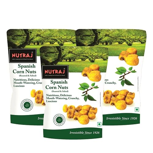 Nutraj Spanish Corn Roasted & Salted 150g (Pack of 3)