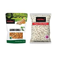 Nutraj Mixed Nuts Combo Pack 850g (Cashew Nuts 400g and Almonds 450g)