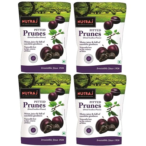 Nutraj California Pitted Prunes (Dried Seedless Plums) 800g (200g X 4)