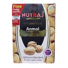 Nutraj Anmol Walnuts Inshell 1Kg (Free Saffron 0.5g)