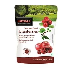 Nutraj Sweet & Tart Sliced Cranberry 180g ( Pack of 5)