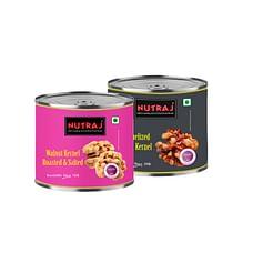 Nutraj Pack of Roasted & Salted and Caramelized Walnut Kernels 100g Each