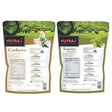 Nutraj Combo of Cashews & Raisins (Kaju Kishmish) 250g Each