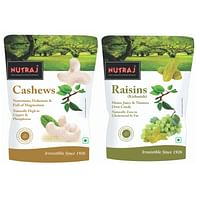 Nutraj Combo of Cashews & Raisins (Kaju Kishmish) 250g Each