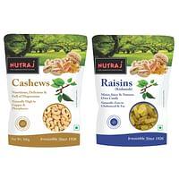 Nutraj Combo of Cashews & Raisins (Kaju Kishmish) 500g Each