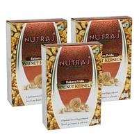 Nutraj Bakers Pride Broken Walnut Kernels 250 Gms (Pack of 3) - (6-8pcs Kernels)