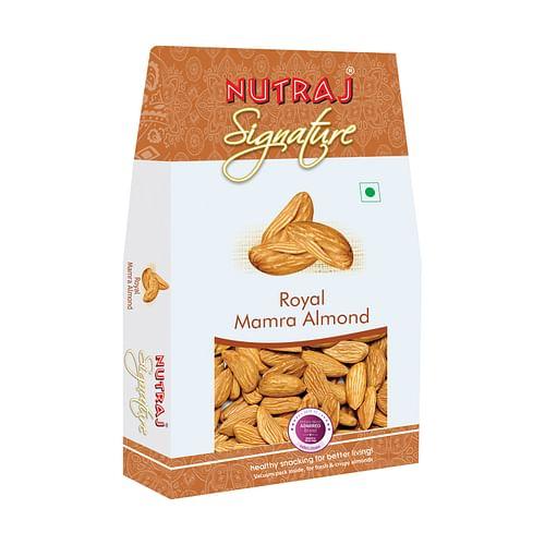 Nutraj Signature Mamra Almonds (Badam Giri) 200g - Vacuum Pack