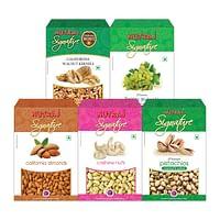 Nutraj Signature Daily Needs Pack of 5 (Almonds, Walnuts, Pista, Cashews, Raisins)