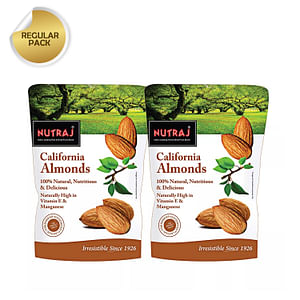Nutraj California Almonds 250G (Pack Of 2)