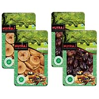 Nutraj Figs 200 g + Dates 200 g Tray (Pack of 2)