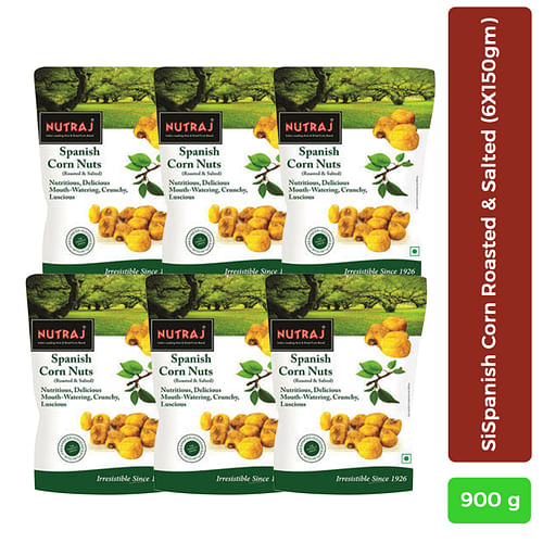 Nutraj Spanish Corn Roasted & Salted 150g - Pack of 6