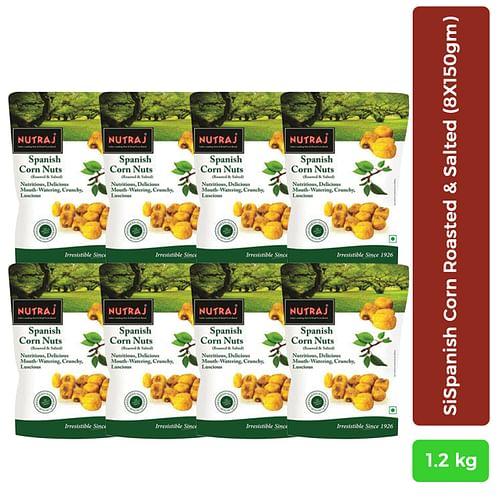 Nutraj Spanish Corn Roasted & Salted 150g - Pack of 8