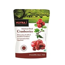 Nutraj Sweet & Tart Sliced Cranberry 180g (Pack of 4)