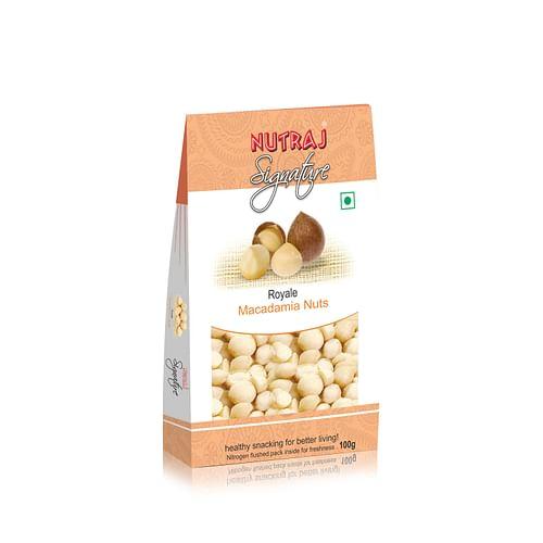Nutraj Signature - Macadamia Nuts  100G - Vacuum Pack