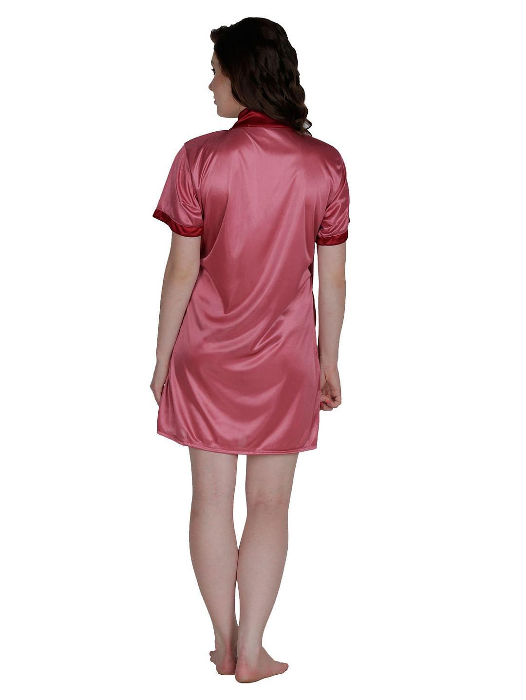 Secret Wish Women's Satin Beige, Purple Robe, Housecoat (Free Size, HC-57)