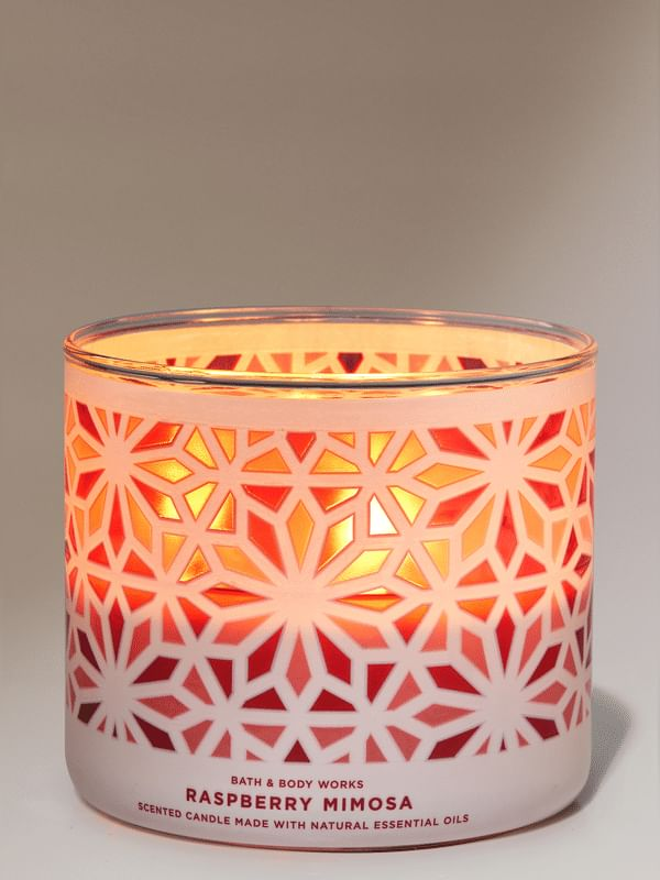 Raspberry Mimosa 3-Wick Candle