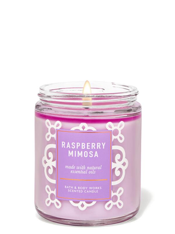 Raspberry Mimosa Single Wick Candle
