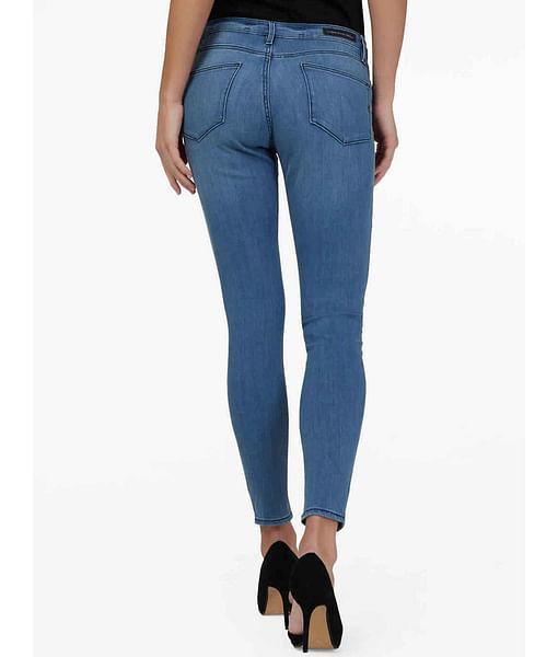 Women's mid wash skinny fit Star jeans