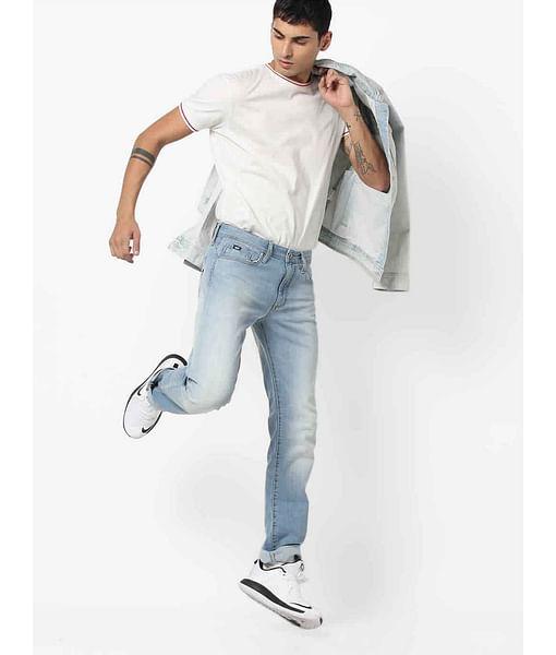 Men's Basic Morris Straight Fit Blue Jeans