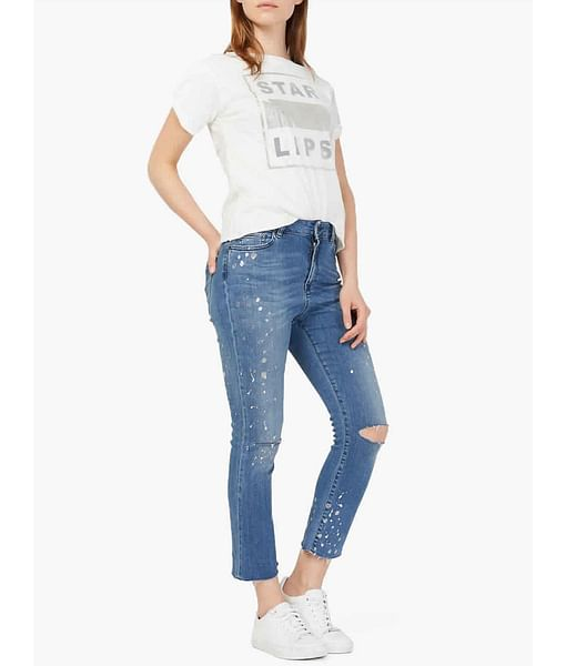 Women's ripped Benedetta jeans