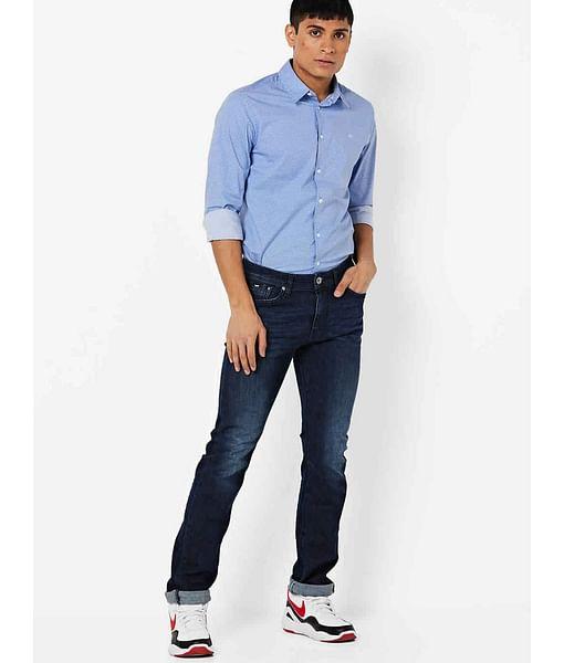 Men's Memphis Straight Fit Dark Blue Jeans