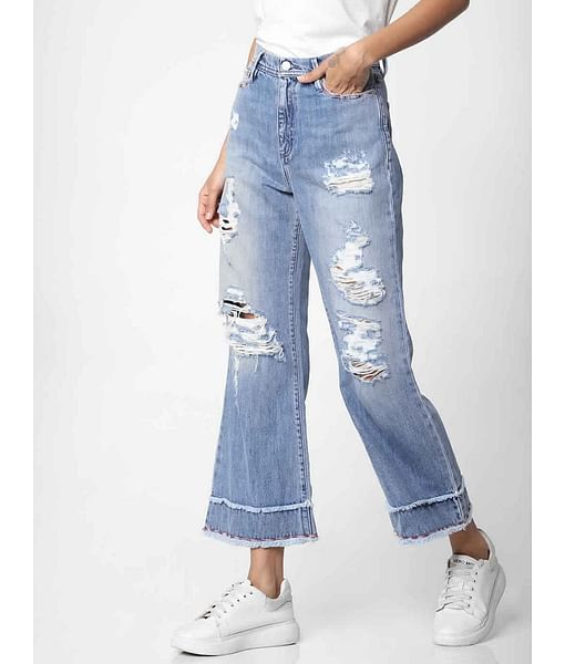 Women's mid rise flared Meryl summer jeans