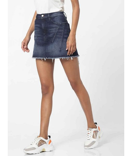 Women's straight fit mid wash Joplin skirt