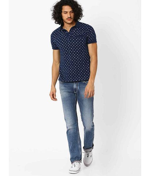 Men's Norton K Straight Fit Blue Jeans