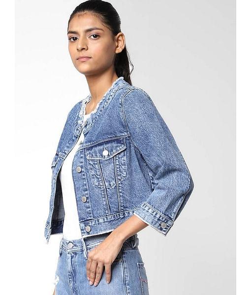 Women's slim fit full sleeves Meghan denim jacket