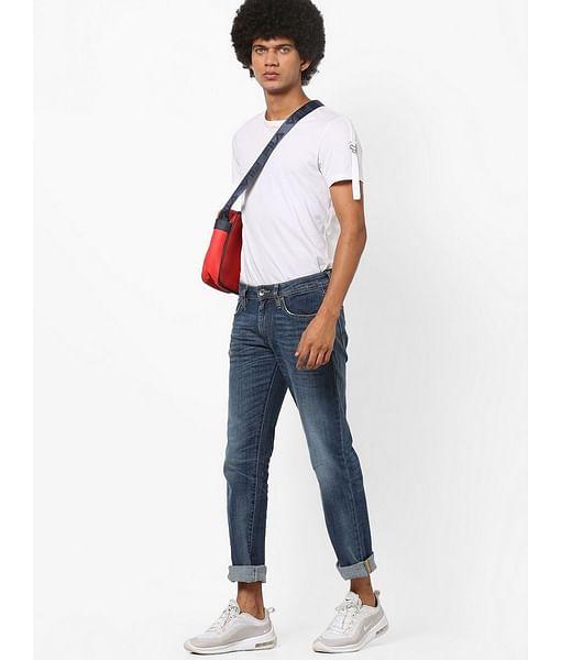 Men's Morris Straight Fit Mid Blue Jeans