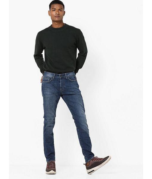 Men's Norton Carrot Fit Dark Blue Jeans
