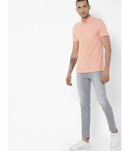 Men's Sax Zip Skinny Fit Grey Jeans