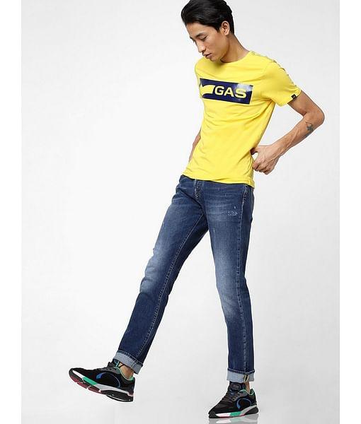 Men's Norton Carrot Fit Blue Jeans