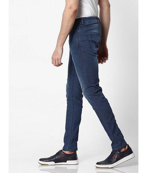 Men's Slow Motion Carrot Fit Blue Jeans