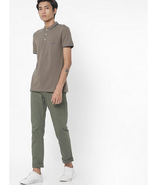 Men's Ralph solid green polo t-shirt