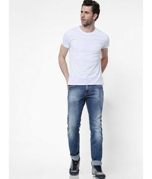 Men's Morris Straight Fit Blue Jeans