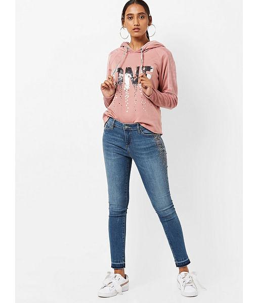 Women's skinny fit medium wash Star RK jeans