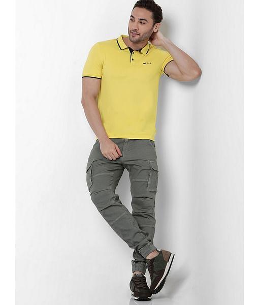 Men's Bob Gym Skinny Fit Grey Cargo Pants