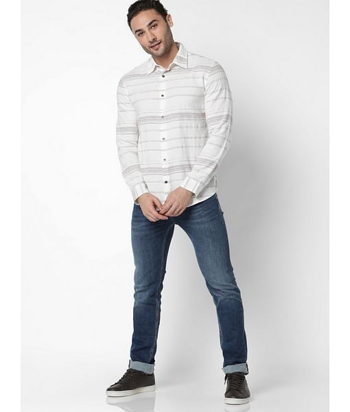 Men's Sir Det Striped Slim Fit Shirt