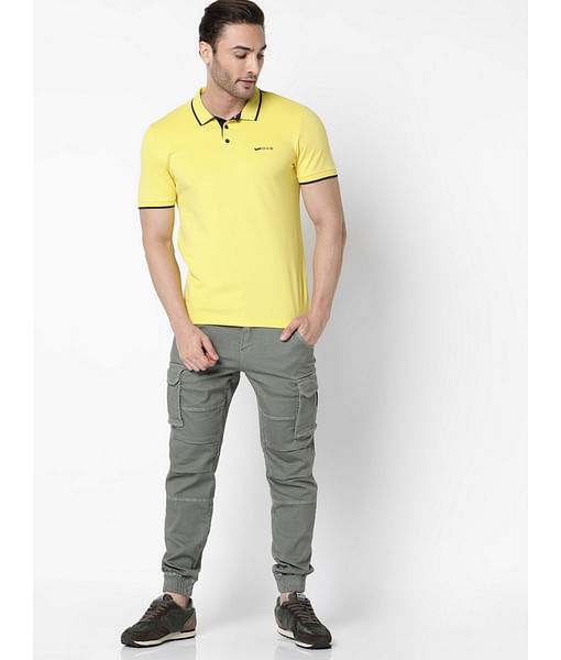 Men's Ralph solid mustard polo t-shirt