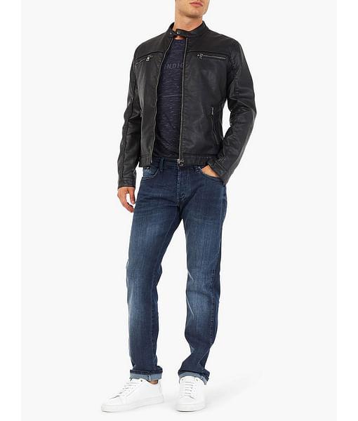 Men's Mitch Straight Fit Dark Blue Jeans