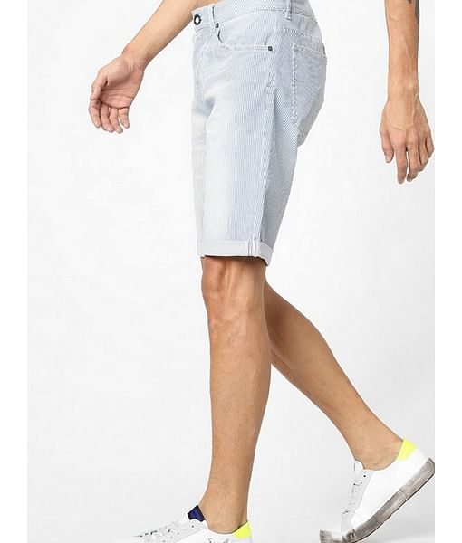 Men's Anders striped blue shorts