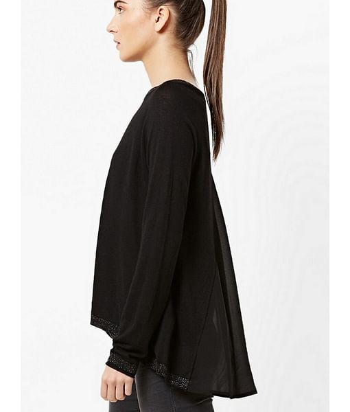 Women's regular fit round neck long sleeve Desyre top