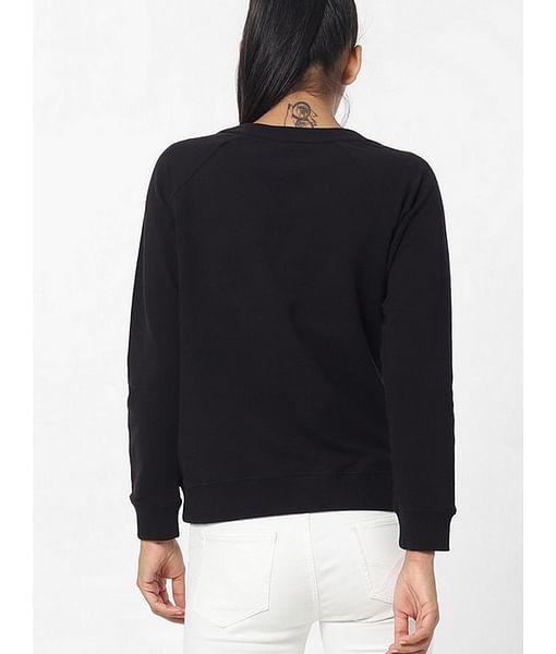 Women's crew neck printed Soile RS logo sweatshirt