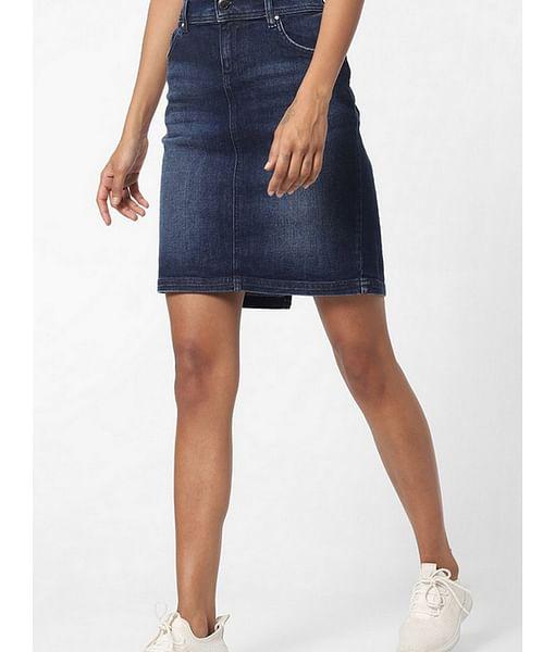 Women's tight fit A-line Beverley longuette skirt
