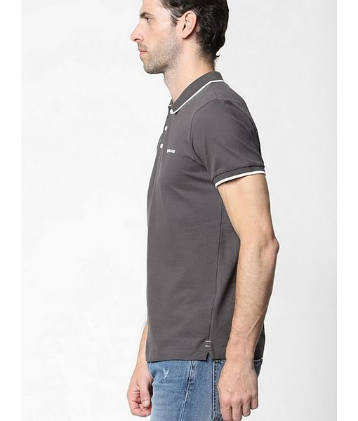 Men's Ralph solid grey polo t-shirt