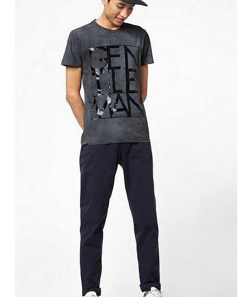 Scuba Gentle Typographic Print Crew-Neck T-shirt